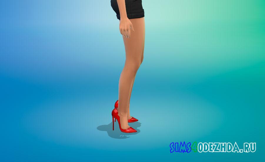 Туфли изумительной формы на каблуке для Симс 4 - фото 2