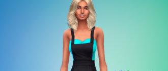 Волнистые волосы средней длины для женщин для Симс 4 - фото 1