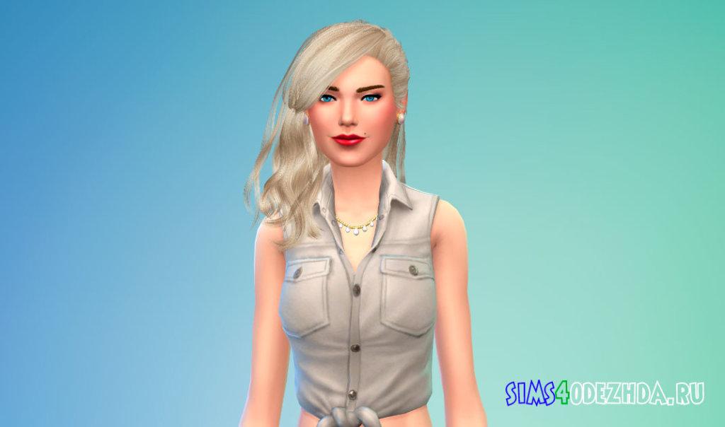 Волосы Daughter от Stealthic для Симс 4 - фото 1