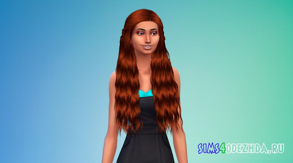 Женская прическа с косами сзади для Симс 4 - фото 2