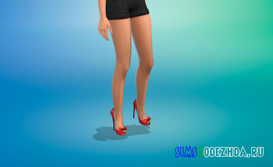 Женские туфли с бантиком для Симс 4 - фото 1