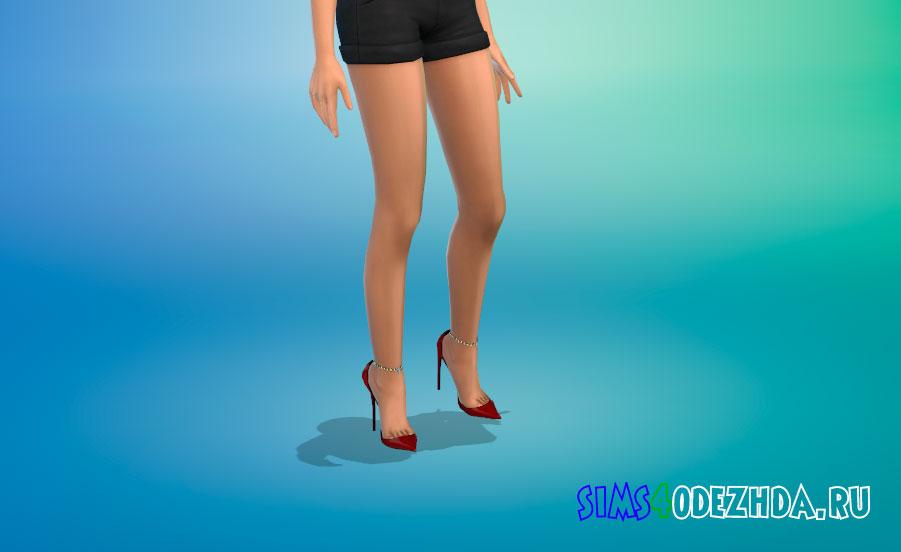Женские туфли с цепочкой для Симс 4 -фото 1