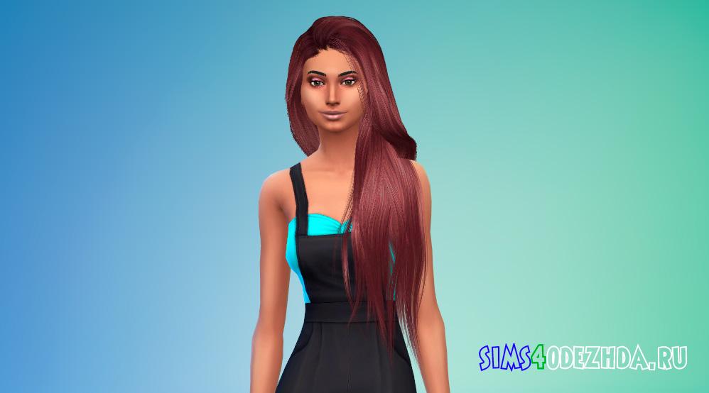 Женские волосы с длиной до пояса для Симс 4 - фото 2