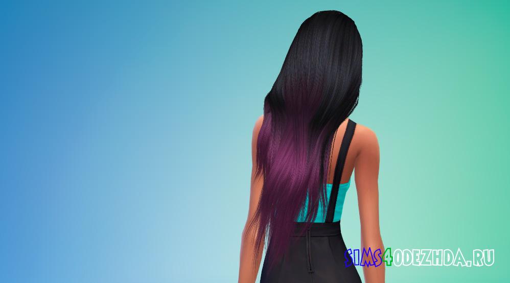 Женские волосы с длиной до пояса для Симс 4 - фото 3