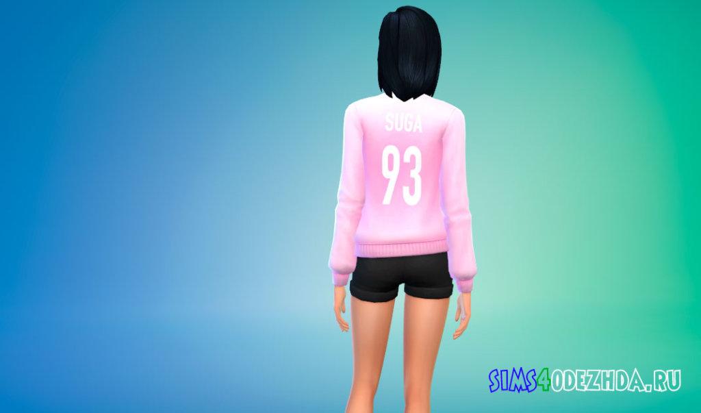 Женский BTS свитер для Симс 4 - фото 3