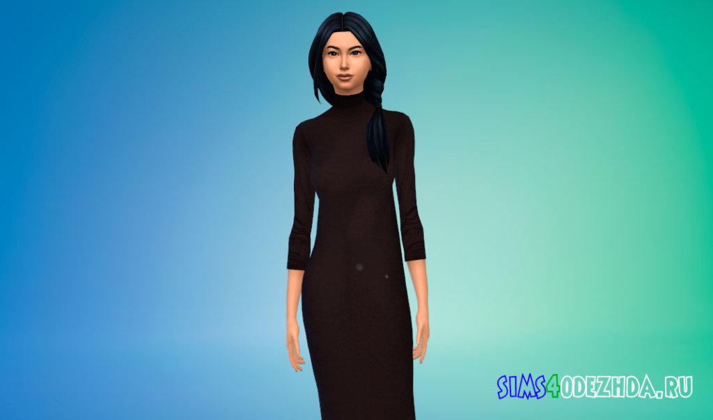 Длинная женская водолазка для Симс 4 - фото 2