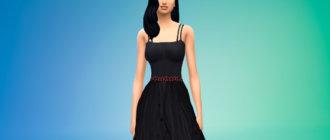 Длинное платье ведьмы для Симс 4 - фото 1