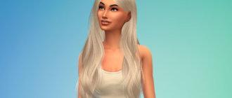 Длинные женские волнистые волосы для Симс 4 - фото 1