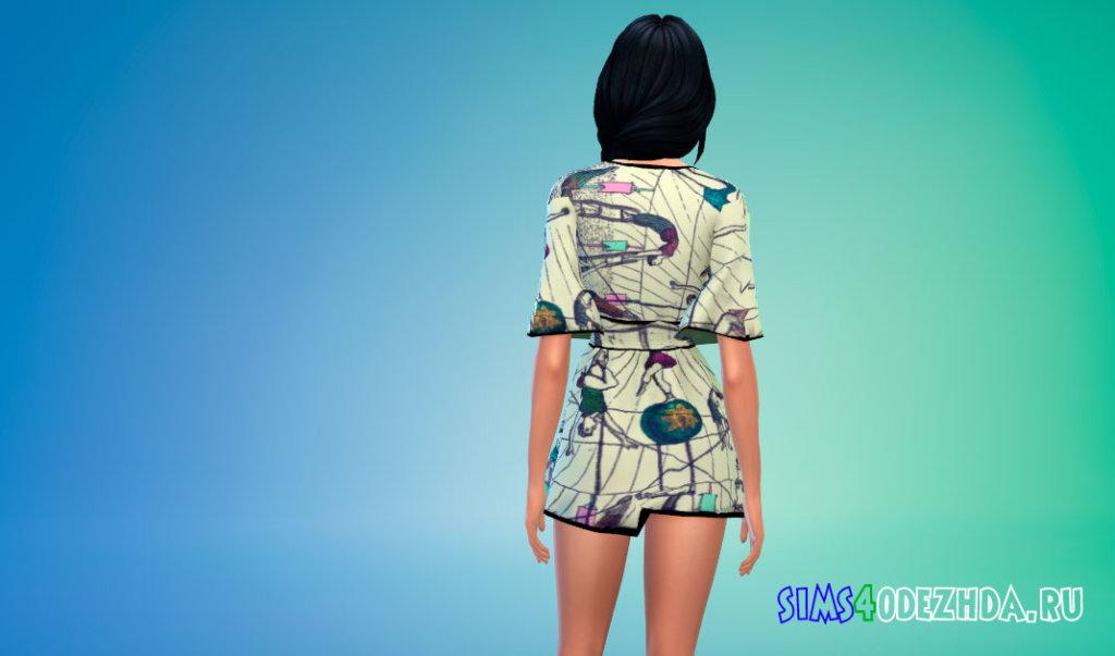 Яркое летнее платье для Симс 4 - фото 3