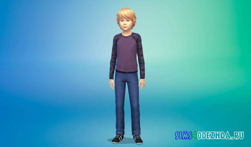 Камуфляжные свитшоты для мальчиков для Симс 4 - фото 3