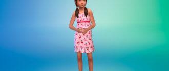 Коллекция дизайнерских платьев для девочек для Симс 4 - фото 1
