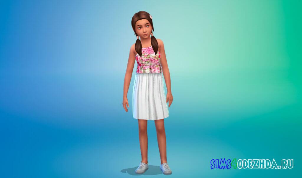 Коллекция дизайнерских платьев для девочек для Симс 4 - фото 3