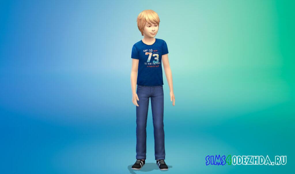 Коллекция футболок для мальчиков для Симс 4 - фото 1