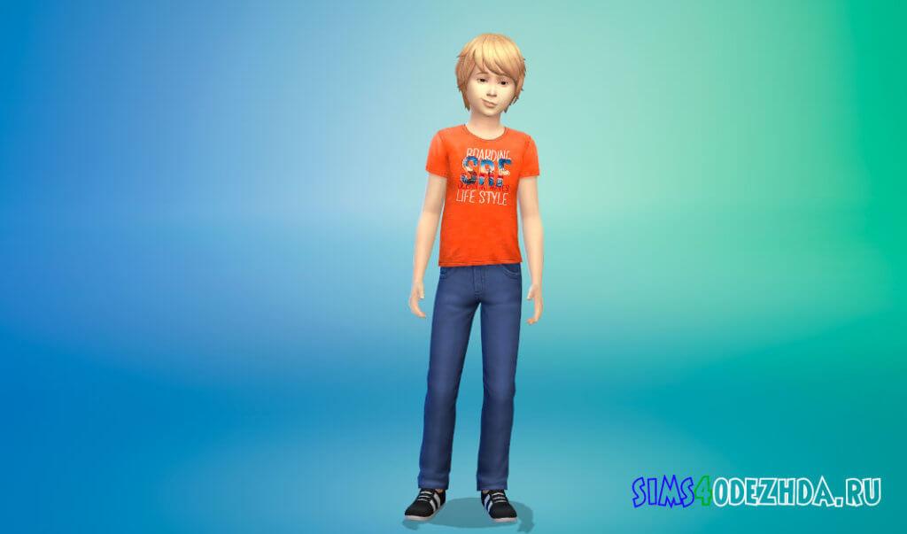 Коллекция футболок для мальчиков для Симс 4 - фото 2