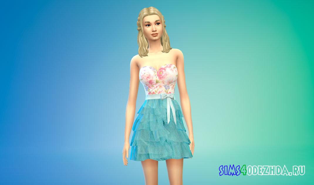 Короткое бальное платье для Симс 4 -фото 1