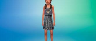 Красивое платье с яркими принтами для Симс 4 - фото 1