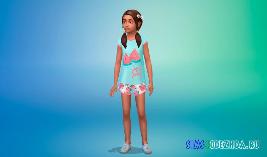 Летние пижамы для девочек для Симс 4 - фото 2