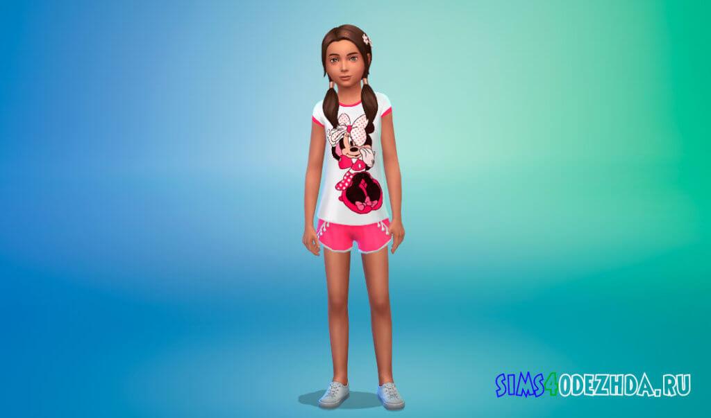 Летние пижамы для девочек для Симс 4 - фото 3
