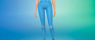 Набор летних женских джинсов для Симс 4 - фото 1
