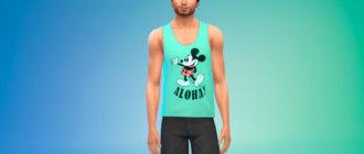 Набор стильных мужских маек для Симс 4 - фото 1