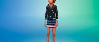 Пак с платьями для девочек для Симс 4 - фото 1