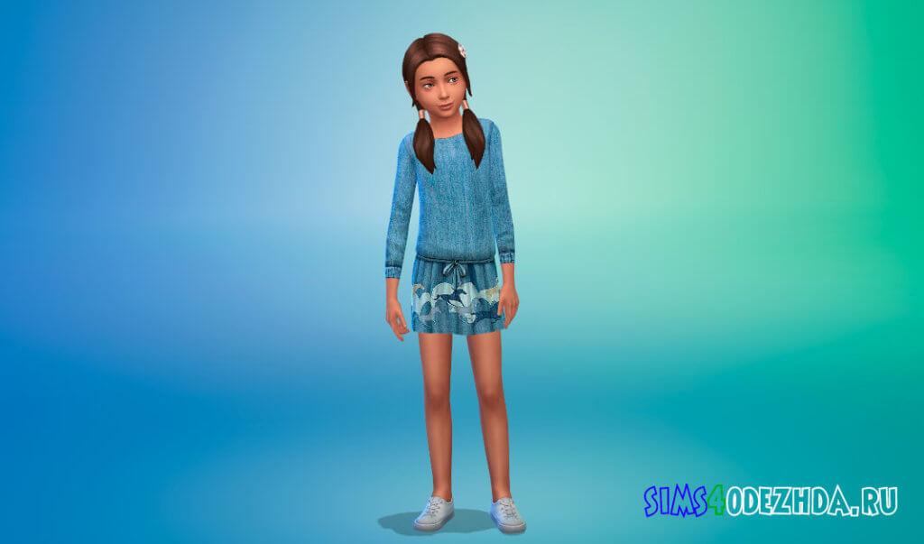 Пак с платьями для девочек для Симс 4 - фото 3