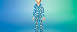 Пижамный наряд для мальчиков для Симс 4 - фото 1