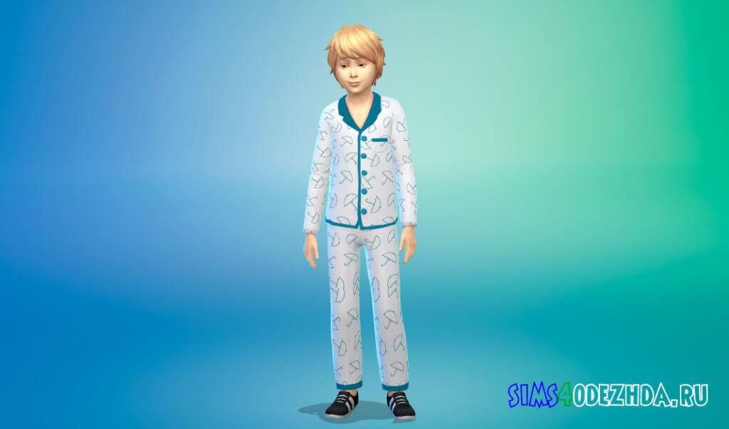 Пижамный наряд для мальчиков для Симс 4 - фото 2