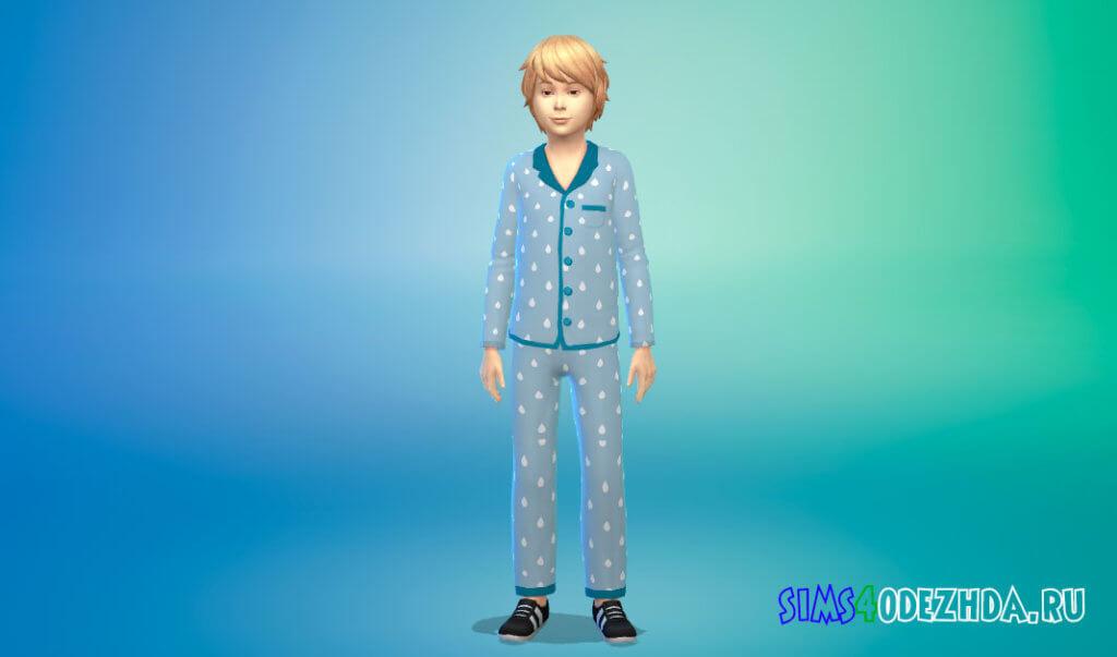 Пижамный наряд для мальчиков для Симс 4 - фото 3