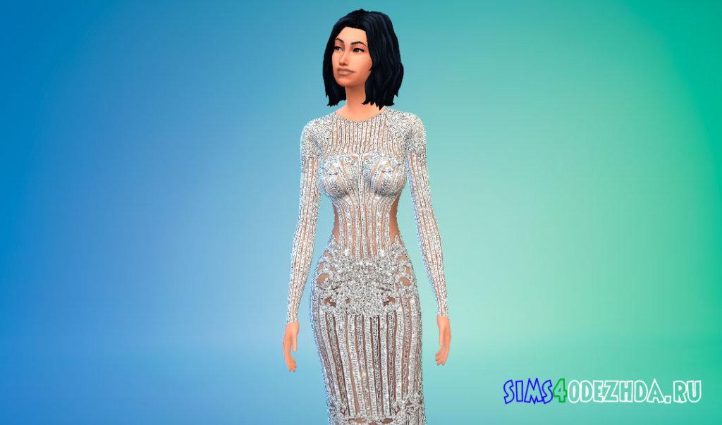 Платье Кайли Дженнер для Симс 4 - фото 2