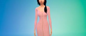 Платье с молнией спереди для Симс 4 - фото 1