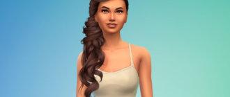 Прическа Persephone от Stealthic для Симс 4 - фото 1