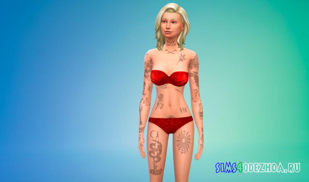 Прикольные тату на все тело для женщин для Симс 4 - фото 2
