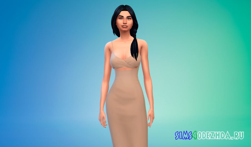 Шикарное вечернее платье для Симс 4 - фото 1
