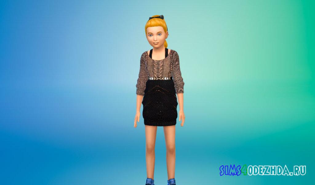 Шикарные платья для девочек для Симс 4 - фото 1