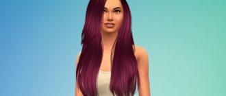 Шикарные прямые волосы для ваших симок Симс 4 - фото 1
