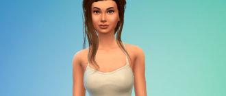 Стильная женская прическа с длинной косой для Симс 4 - фото 1