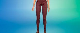 Стильные обтягивающие женские джинсы для Симс 4 - фото 1