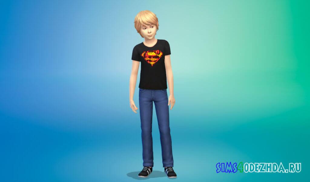 Супергеройские футболки для мальчиков для Симс 4 - фото 2