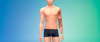 Татуировка на левую руку для мужчин для Симс 4 - фото 1