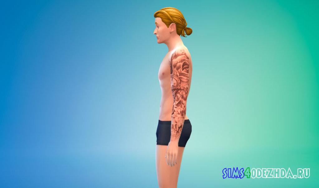 Татуировка на левую руку для мужчин для Симс 4 - фото 2