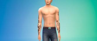 Татуировки на руки для мужчин для Симс 4 - фото 1