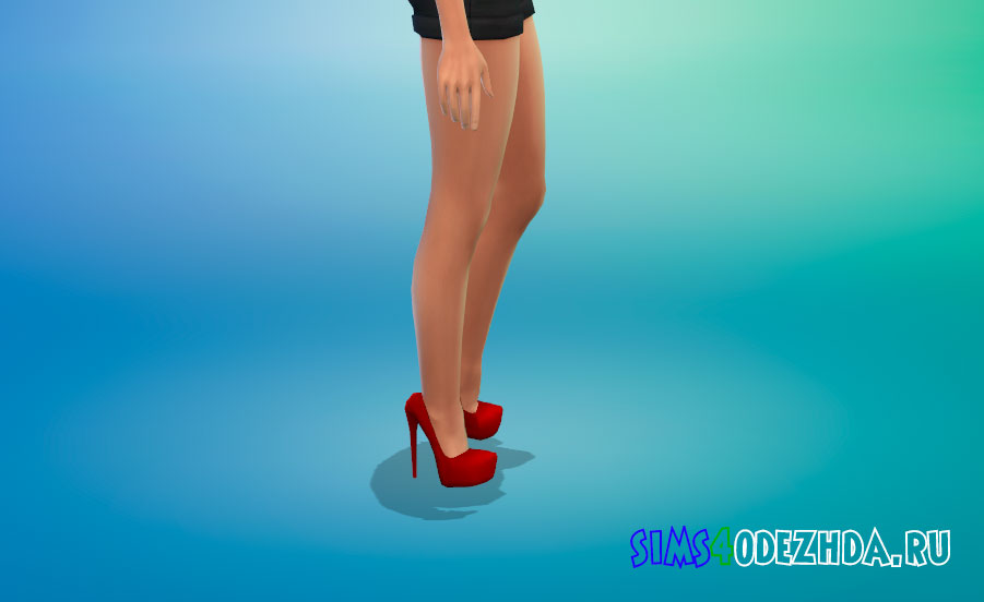Туфли со скрытой платформой для Симс 4 - фото 2
