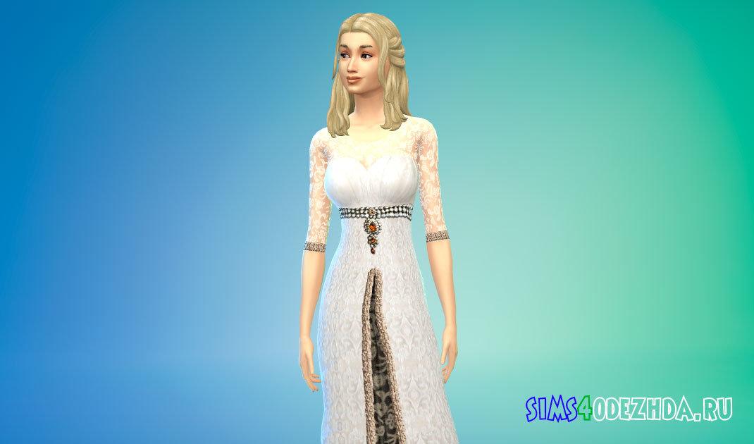 Вечернее платье королевы бала для Симс 4 - фото 1