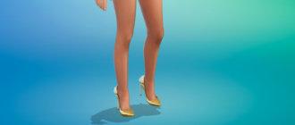 Великолепные туфли с металлическим блеском для Симс 4 - фото 1