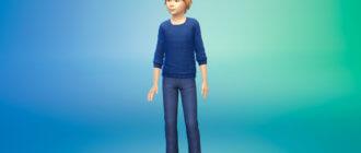 Вязаный детский унисекс свитер дял Симс 4 - фото 1