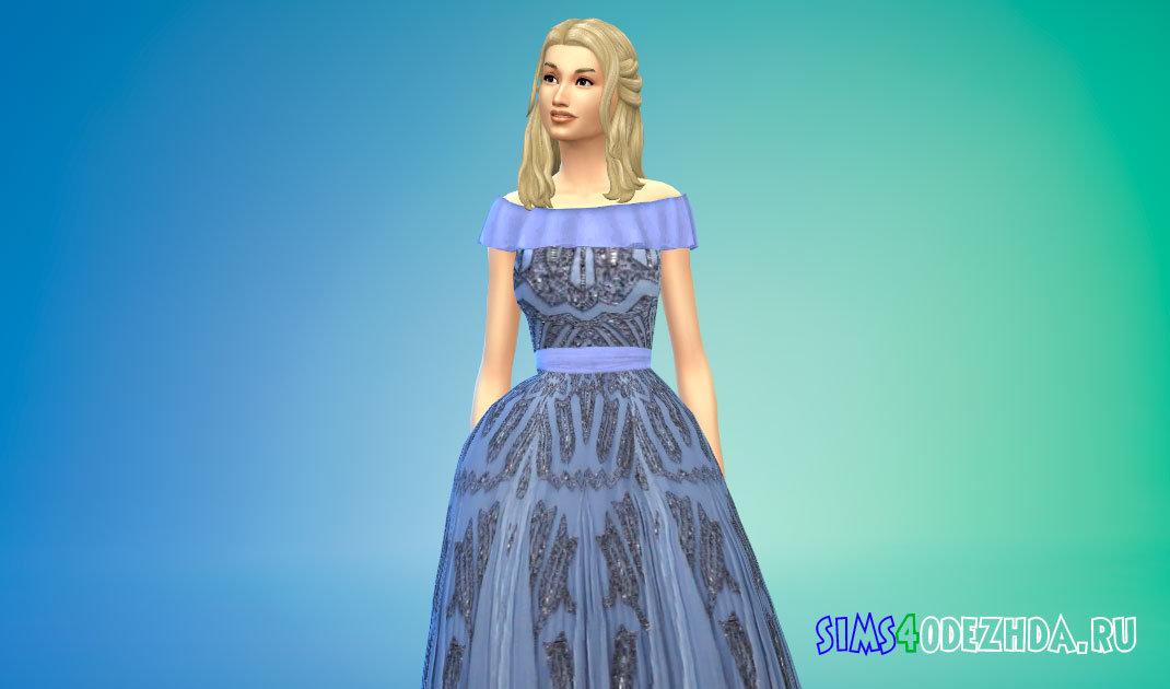 Женское бальное платье для Симс 4 - фото 1