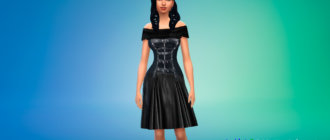 Готический женский наряд для Симс 4 - фото 1