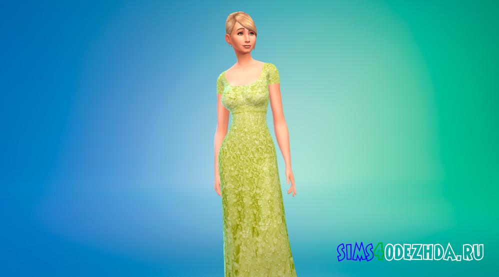 Яркое платье принцессы для Симс 4 - фото 2