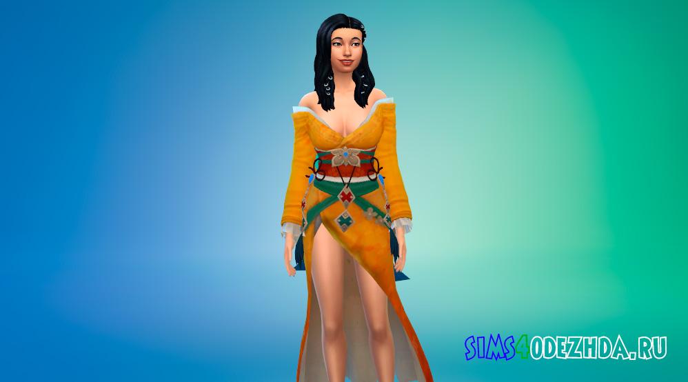 Кимоно Хару для Симс 4 - фото 1